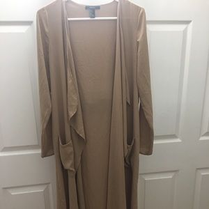 Forever 21 Sheer chiffon brown cover up